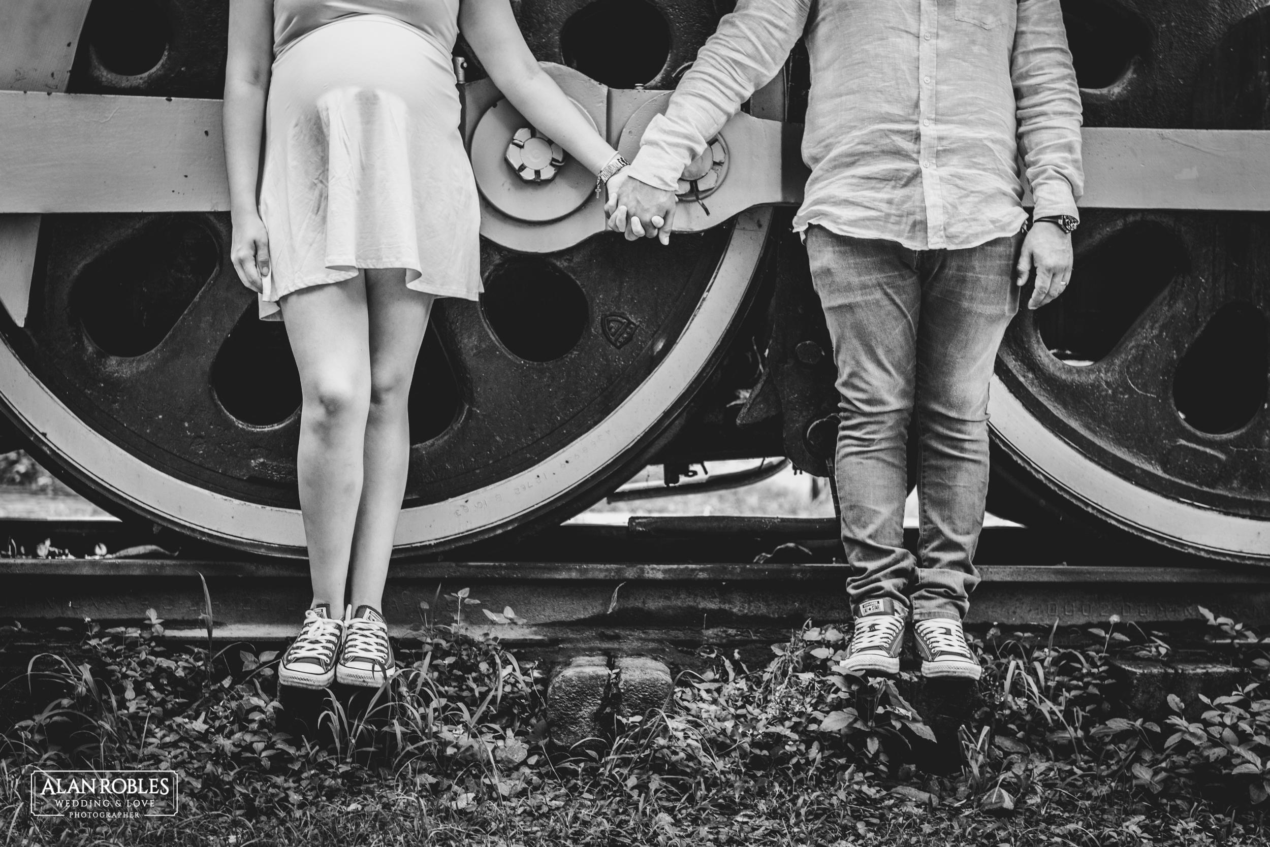 Fotos creativas blanco y negro - Alan Robles Fotografo de bodas en Guadalajara