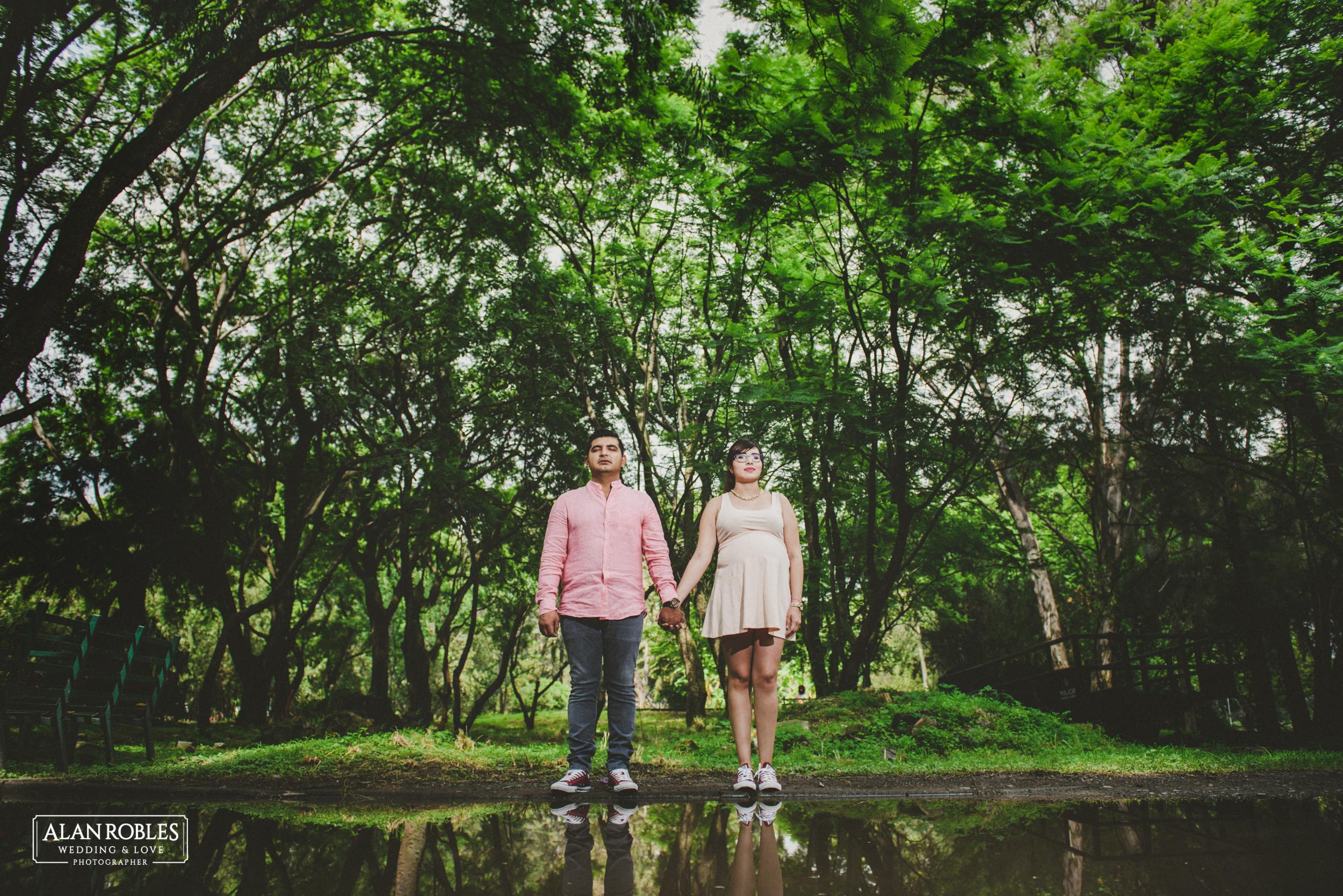 Sesion de fotos prenatal Alan Robles Fotografo de bodas en Guadalajara