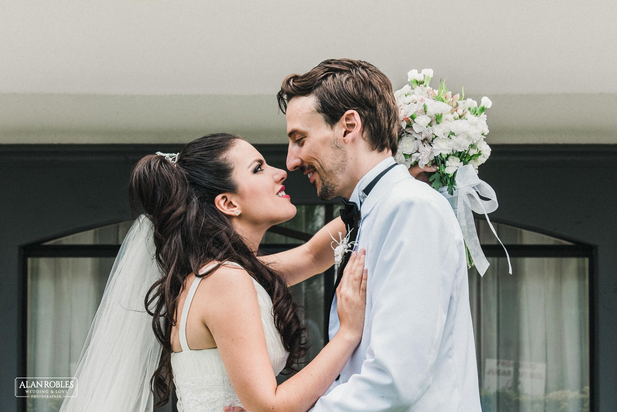 Retrato de novios. Fotografia de bodas. Alan Robles Fotografo de Bodas. Wedding session.