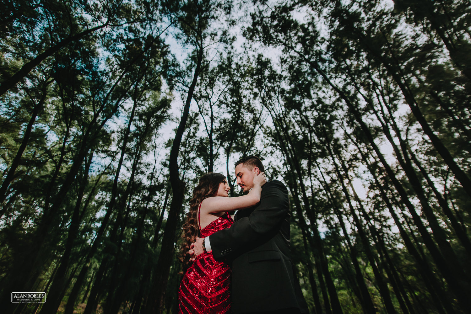 Bosque Colomos, sesion casual, novios, preboda, alan robles, love is the big reason, pareja, arboles